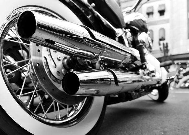 Motorcycle BW
