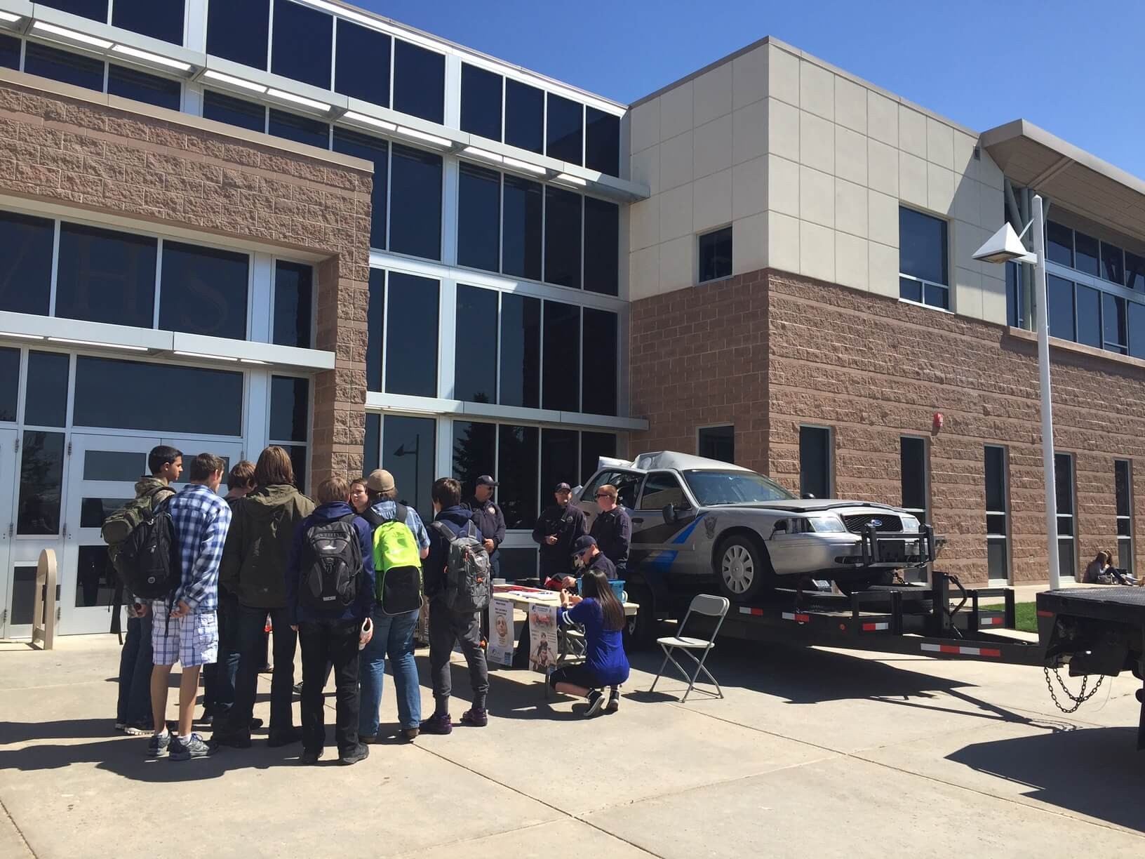 The Gilbert Law Group talks car safety with local highschool students