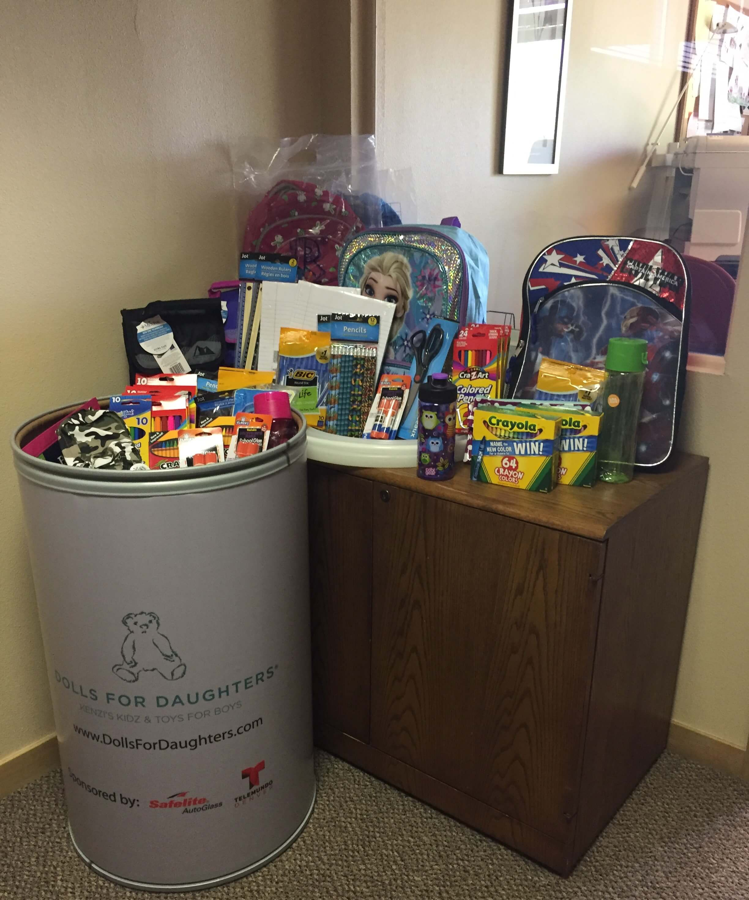 Packz 4 Kidz backpack drive at The Gilbert Law Group